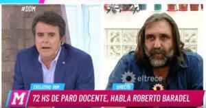 Tenso cruce de Tato Young con Roberto Baradel en DDM